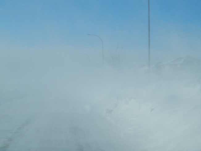 White out at the ground Winnipeg, Manitoba Canada
