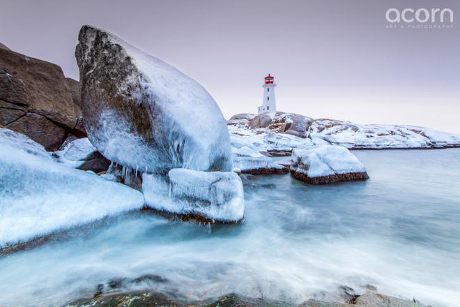 Winter Wonderland, Peggy's Cove Peggy's Cove, Nova Scotia Canada