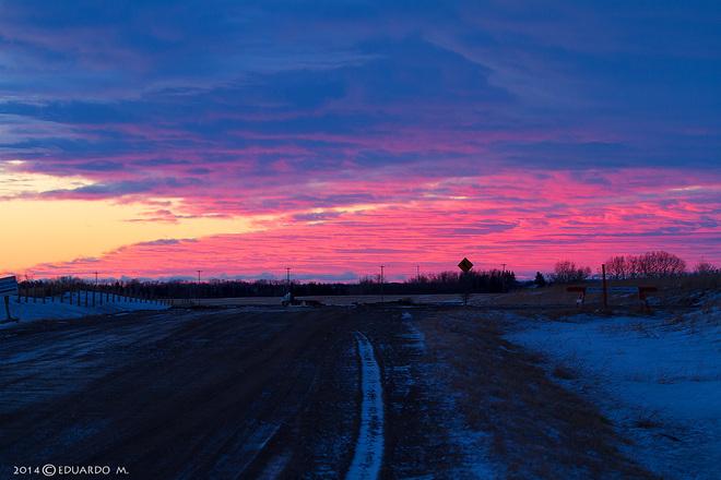 Sunrise Beautiful Calgary, Alberta Canada