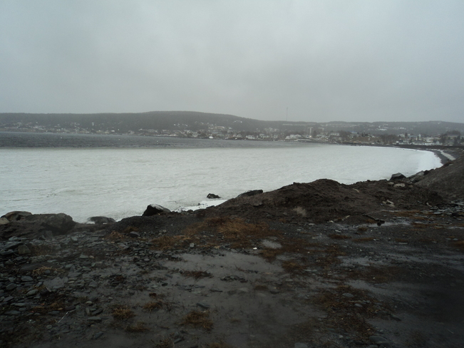 Wet windy day on the Beach Carbonear, Newfoundland and Labrador Canada