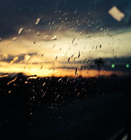 Rain by the tunnel Delta, British Columbia Canada