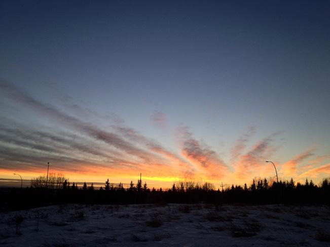 Starburst sunset Calgary, Alberta Canada