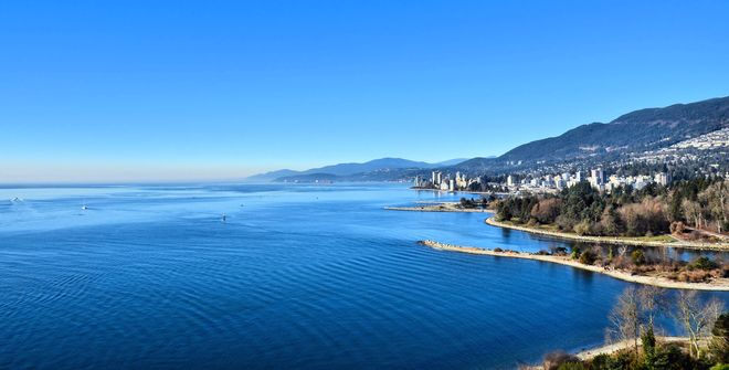 Views from Lions Gate Bridge Vancouver, British Columbia Canada