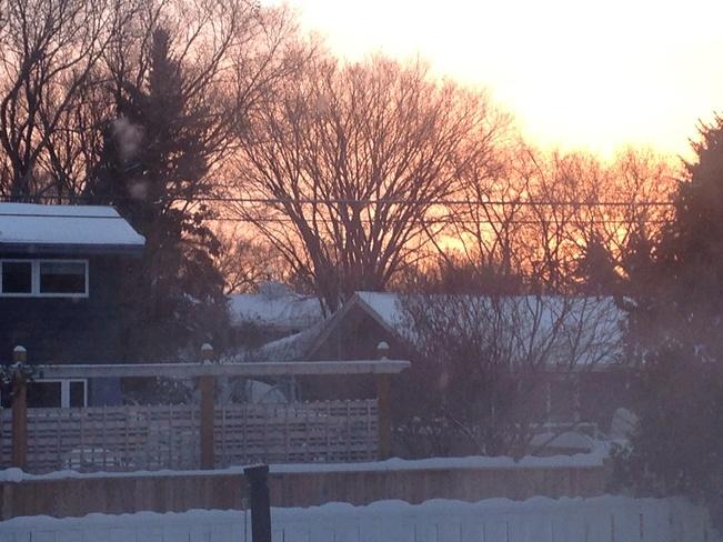 beautiful sunrise Winnipeg, Manitoba Canada