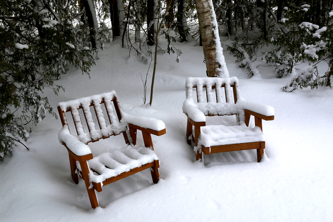 Winter Chairs Sauble Beach, Ontario Canada