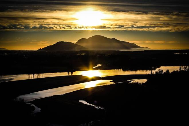 Fraser Valley Sunset Mission, British Columbia Canada