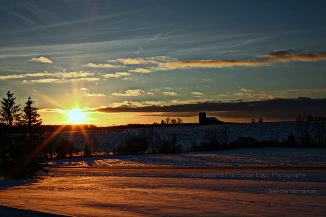 Evening Sunset in Huron County... Blyth, Ontario Canada
