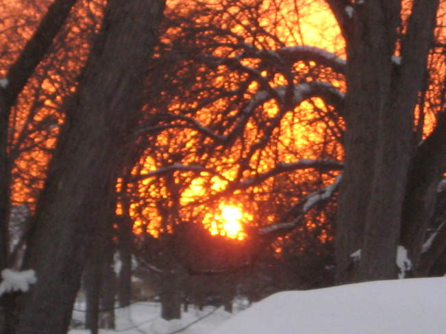 Spectacular January Sunset Stratford, Ontario Canada