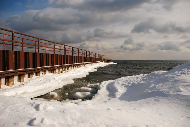 ice age at Lake Ontario Georgetown, Ontario Canada
