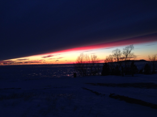 beautiful sunset Marathon, Ontario Canada