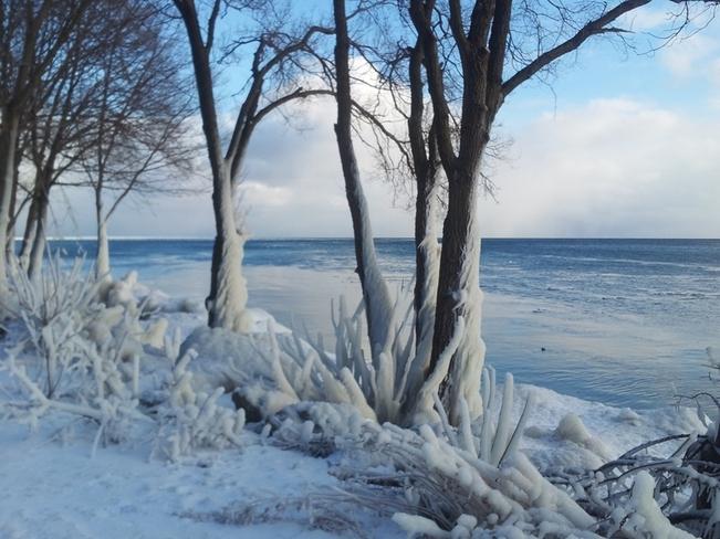 Lake Ontario Winter Beach Etobicoke, Ontario Canada