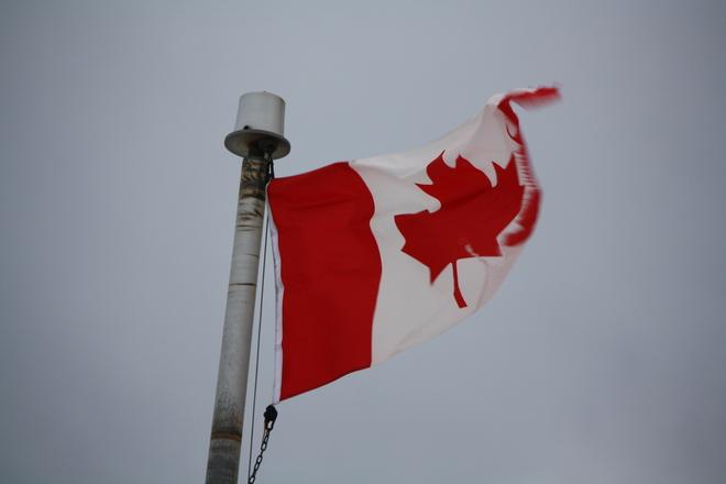 flying flag Bonavista, Newfoundland and Labrador Canada