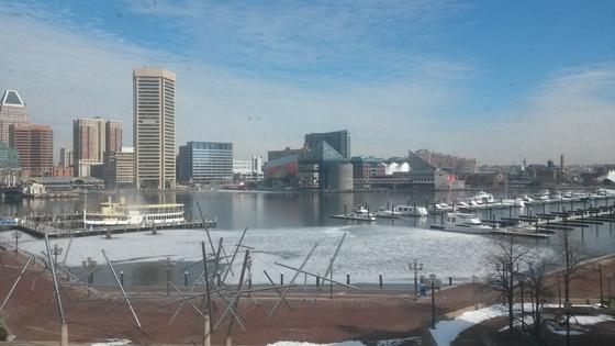 Inner Harbor Frozen