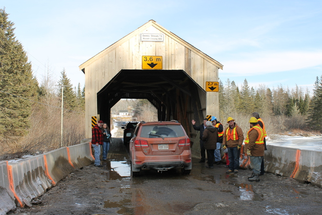 Maxwell Crossing Covered Bridge Repaired! St. Stephen, New Brunswick Canada