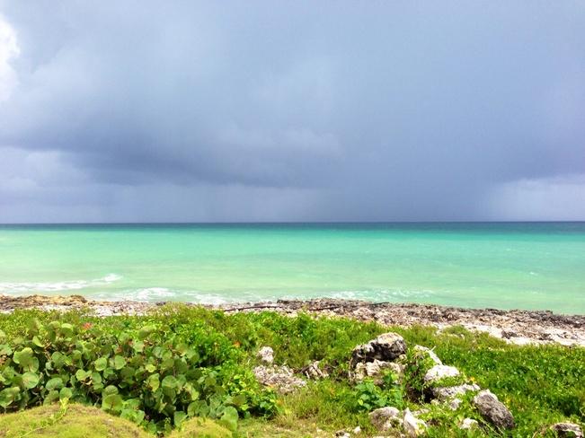 rain over ocean Cayo-Coco, Cuba