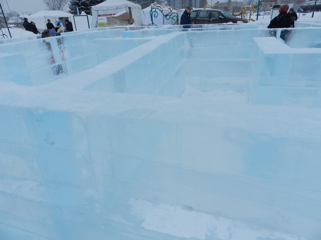 An Icy Maze Barrie, Ontario Canada