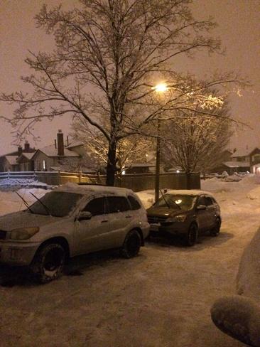 snow fall Brampton, Ontario Canada