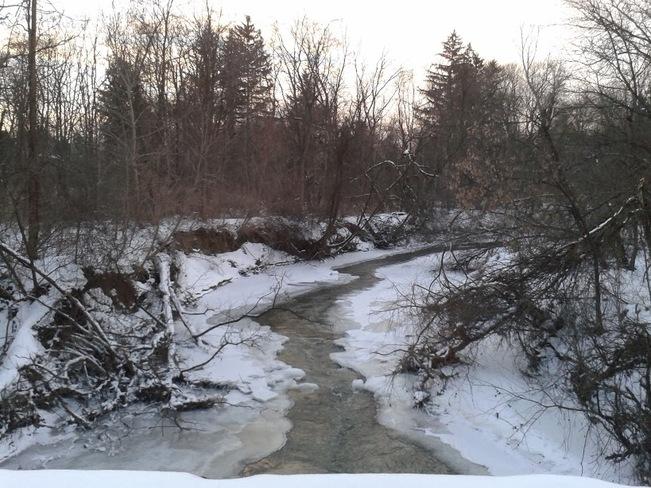 Don River at Winter Toronto, Ontario Canada