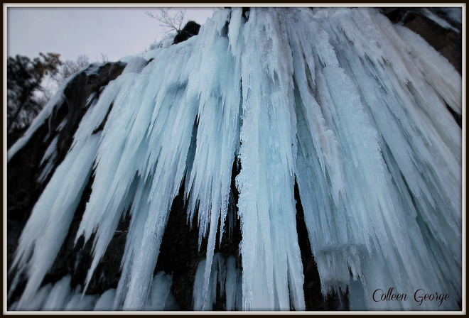 Fundy Icefall Centreville, Nova Scotia Canada