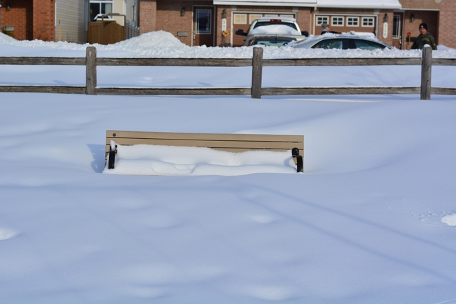 Buried in snow Orleans, Ontario Canada