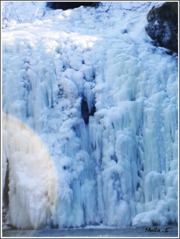 Iced Over Waterfall Canning, Nova Scotia Canada