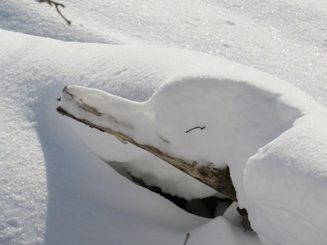 Snow Shapes Espanola, Ontario Canada