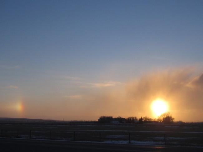 Sundog/Sunset Maple Creek, Saskatchewan Canada