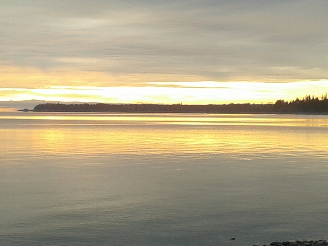 sun up Campbell River, British Columbia Canada