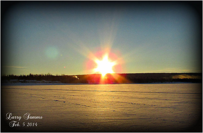 """Beautiful But Cold Morning"" Springdale, Newfoundland and Labrador Canada"