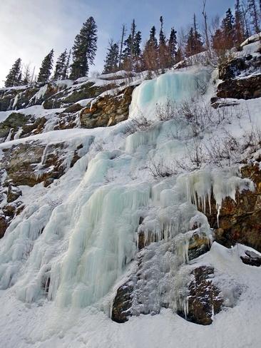 Ice Formations Pine Pass Mackenzie, British Columbia Canada