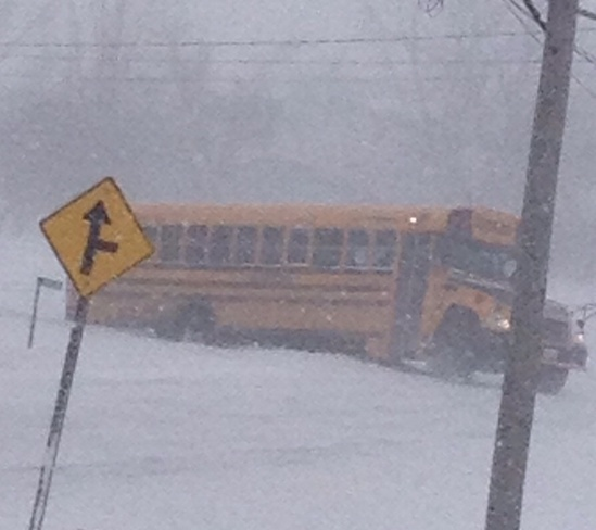Bad day for bus! Glanbrook, Ontario Canada