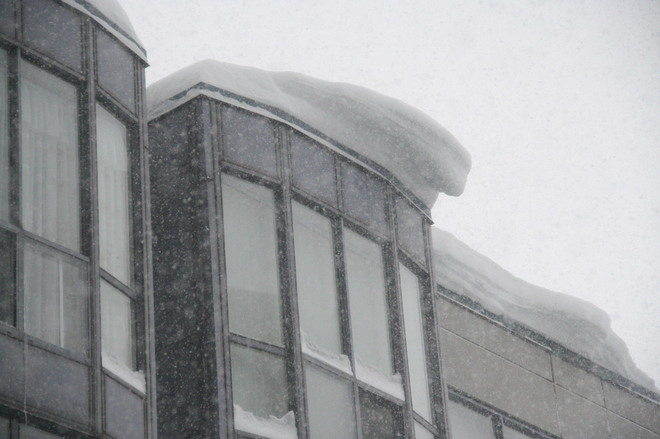 Snow on the roof Scarborough, Ontario Canada