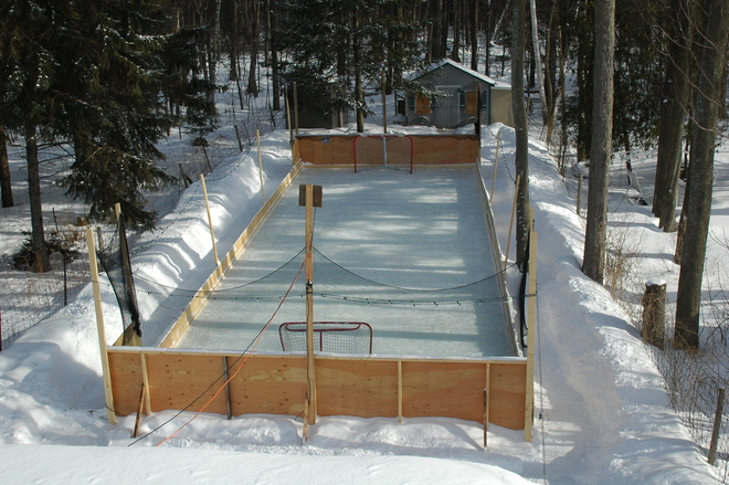 Backyard Rink Blackburn Hamlet, Ontario Canada