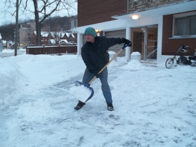 shoveling after cycling