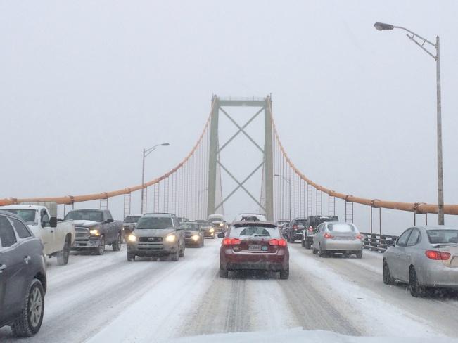 snowy bridge Halifax, Nova Scotia Canada