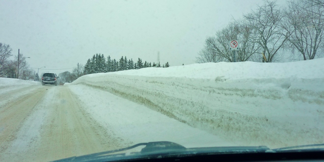 It is like driving in a Snow Maze Orillia, Ontario Canada