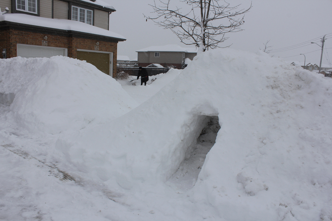 In Canada every home comes with a personal igloo. Kitchener, Ontario Canada