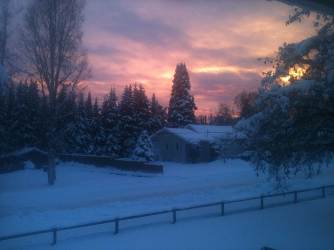 Winter Sunset Prince George, British Columbia Canada