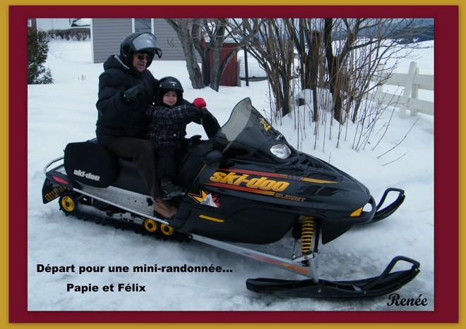 Mini randonnée avec papie La Malbaie, Quebec Canada