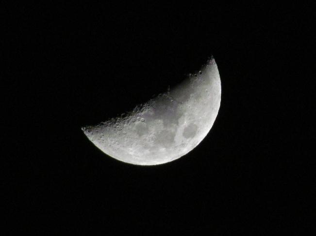 crisp february moon Abbotsford, British Columbia Canada