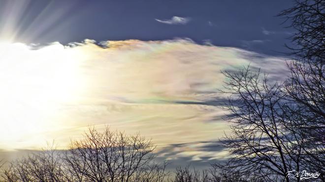 Cloud Iridescence Smiths Falls, Ontario Canada
