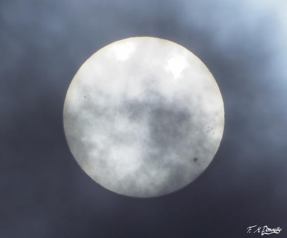 Sun spots on today's sun Smiths Falls, Ontario Canada