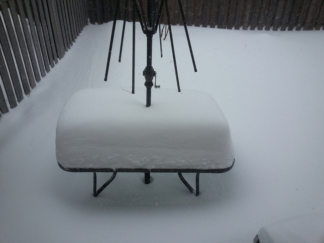 Snow Table Mississauga, Ontario Canada