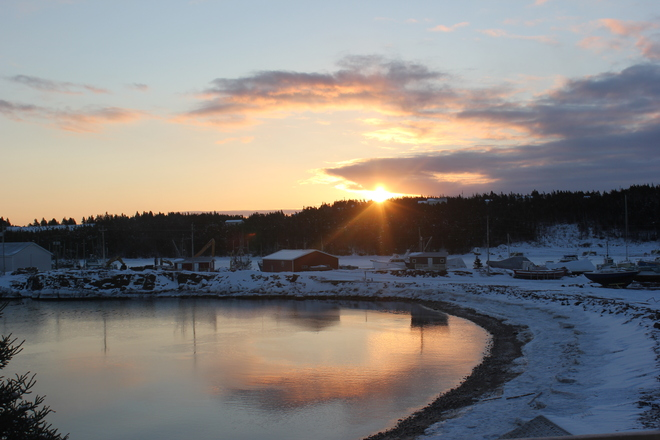 early sunrise Norman's Cove-Long Cove, Newfoundland and Labrador Canada