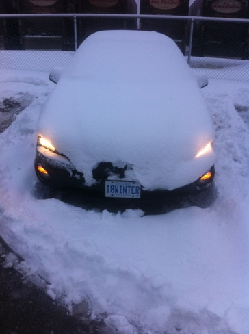 I8WINTER licence plate Kitchener, Ontario Canada
