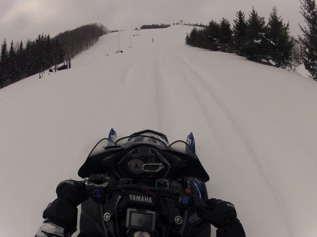 Snowmobiling Beaver Valley, Ontario Canada