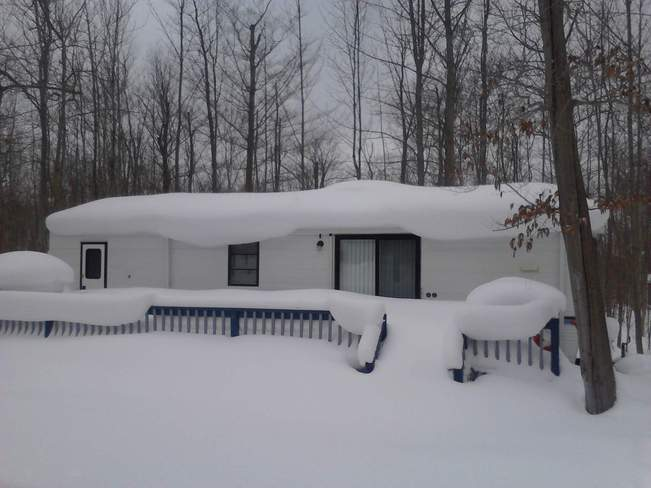 Lots of Snow this Year Miller Lake, Ontario Canada