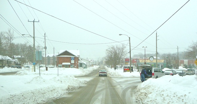 starting to get slippery out there Port Hope, Ontario Canada