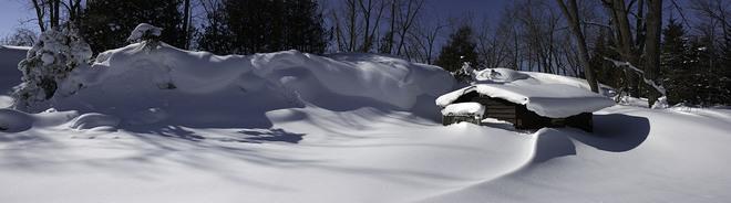 Snow Tsunami Picton, Ontario Canada