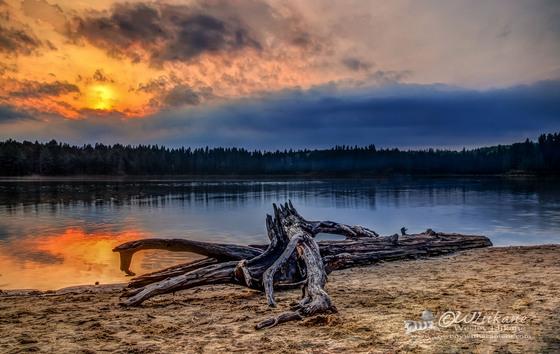 Sunset Pog Lake - Algonquin Park